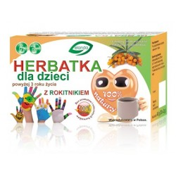 Herbatka dla dzieci powyżej 3 roku życia owocowa z rokitnikiem 20 x 2 g