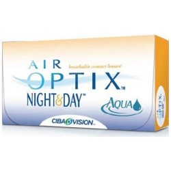 Air Optix Night & Day Aqua soczewki 30 dniowe BC8.4 dioptrie ujemne (-) 6szt.