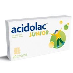 Acidolac Junior misio-tabletki o smaku białej czekolady 20 tabl.