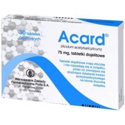 Acard 75 mg tabletki dojelitowe 30 tabl.