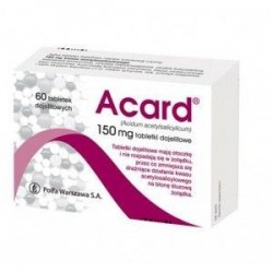 Acard 150 mg tabletki dojelitowe 60 tabl.
