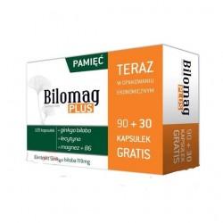 Bilomag Plus 120 mg kapsułki 90 kaps. + 30 kaps. GRATIS