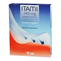 ITAMI 140mg Plaster leczniczy z diklofenakiem 2szt.