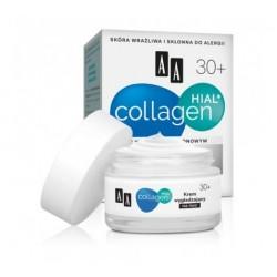 AA Collagen Hial + krem wygładzajaco-regenerujący na noc 30+ 50 ml