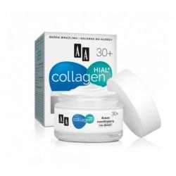 AA Collagen Hial + krem ujędrniajaco-nawilżający na dzień 30+ 50 ml