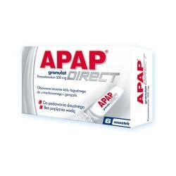 Apap Direct 500 mg saszetki 6 sasz.