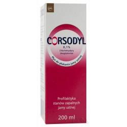 Corsodyl 0,1 % płyn do płukania 200 ml