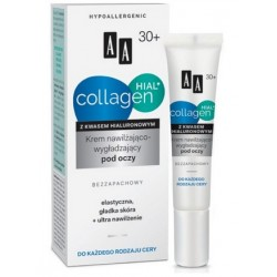AA Collagen Hial + Krem nawilżająco-wygładzający pod oczy bezzapachowy 15 ml