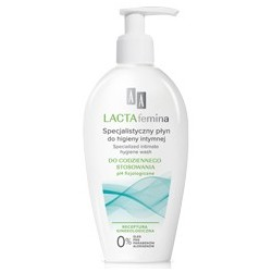 AA LACTAfemina Specjalistyczny płyn do higieny intymnej do codziennego stosowania 200 ml
