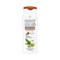 Biały Jeleń szampon do włosów ciemnych naturalnych i farbowanych 300ml