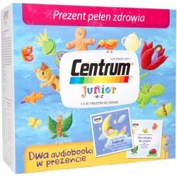 Centrum Junior tabletki 2 x 30 tabl. + Dwa audiobooki Baśnie i Gimnastyka dla języka w PREZENCIE