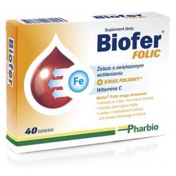 Biofer Folic tabletki 40 tabl.