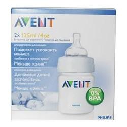 AVENT Classic Butelka do karmienia 0m+ 2 x 125 ml SCF680/27