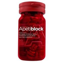 Apetiblock tabletki musujące do ssania 50 tabl.