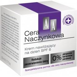 AA Cera Naczynkowa Krem nawilżający na dzień SPF 6 50 ml