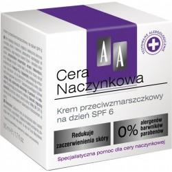 AA Cera Naczynkowa Krem przeciwzmarszczkowy na dzień SPF 6 50 ml