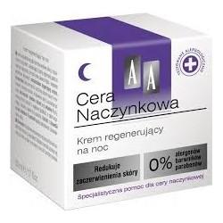 AA Cera Naczynkowa Krem regenerujący na noc 50 ml