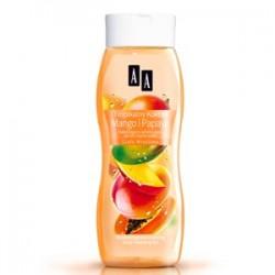 AA Ciało Wrażliwe Tropikalny Koktajl mango i papaja Nawilżająco-witalizujący żel do mycia ciała 250 ml