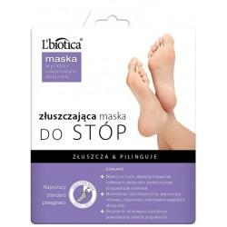 L'biotica Złuszczajaca maska na stóp w postaci nasączonych skarpetek 32ml (1 para)
