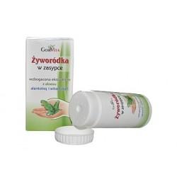 Żyworódka w zasypce Wzbogacona ekstraktem z aloesu, alantoiną i witaminą E 50ml