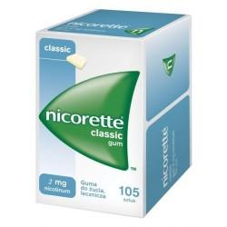Nicorette classic guma do żucia 2 mg 105 sztuk