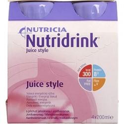 Nutridrink Juice Style o smaku truskawkowym 4 x 200 ml