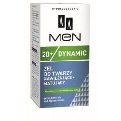 AA Men 20+ Dynamic Żel do twarzy nawilżająco-matujący 50 ml