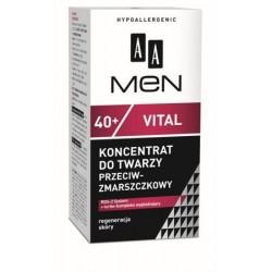 AA Men 40+ Vital Koncentrat do twarzy przeciwzmarszczkowy 50 ml
