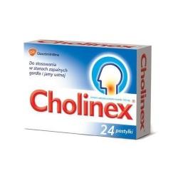 Cholinex 150 mg pastylki 24 past.