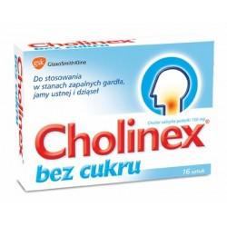 Cholinex bez cukru 150 mg pastylki 16 past.