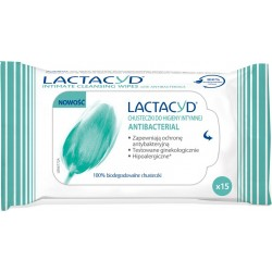 Lactacyd Femina Antibacterial chusteczki do hig. intymnej 15szt.