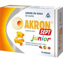 Akron Sept Junior tabletki do ssania 18tabl.