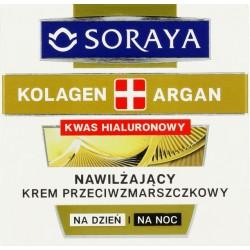 Soraya Kolagen & Argan Nawilżający krem przeciwzmarszczkowy z kwasem hialuronowym i olejem arganowym 50ml