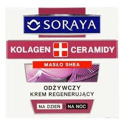 Soraya Kolagen & Ceramidy  Odżywczy krem regenerujący z masłem shea i ceramidami 50ml