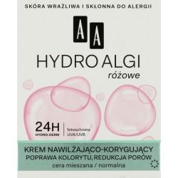 AA Hydro Algi różowe krem nawilżająco-korygujący cera cera normalna i mieszana 50ml