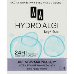 AA Hydro Algi błękitne krem wzmacniający intensywnie nawilżający cera naczynkowa 50ml
