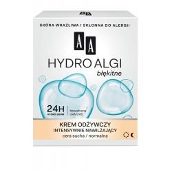 AA Hydro Algi błękitne Krem odżywczy intensywnie nawilżający  cera sucha i normalna 50ml