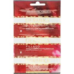 Dermika Fill&Go przeciwzmarszczkowa maseczka pod oczy i na powieki z wypełniaczem zmarszczek  3 x 2ml  1szt.