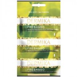 Dermika Fresh&Go żelowa maseczka pod oczy i na powieki przeciw objawom zmęczenia 3 x 2ml  1szt.
