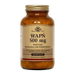 Wapń 500 mg pastylki do ssania lub pogryzienia 60szt.