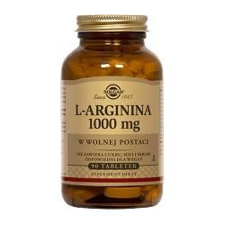 L-arginina 1000 mg w postaci wolnej tabletki 90tabl.