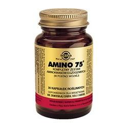 Amino 75 kompletny zestaw aminokwasów egzogennych kapsułki 30kaps.