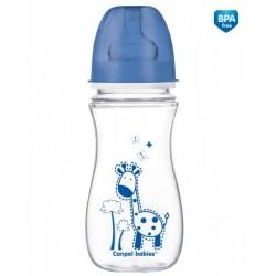 """Canpol Antykolkowa butelka szerokootworowa EasyStart """"Kolorowe zwierzęta"""" 300 ml"""