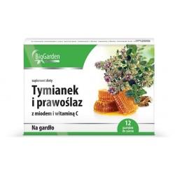 Tymianek I Prawoślaz z miodem i witaminą C tabletki do ssania 12 tabl.