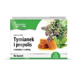 Tymianek i Propolis z ziołami tabletki do ssania 16 past.