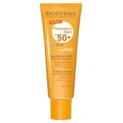 Bioderma Photoderm MAX Aqua-fluide SPF 50+ Ultra-lekki fluid tonujący dla skóry tłustej i mieszanej odcień jasny 40ml
