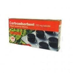 Carboadsorbent 250mg tabletki 20 tabl.